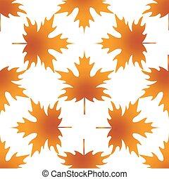 automne, modèle, érable, feuille, seamless