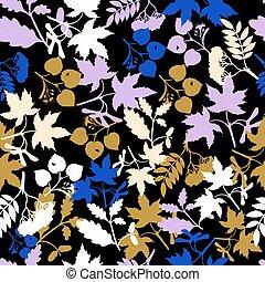 automne, modèle, branches, seamless, arbre
