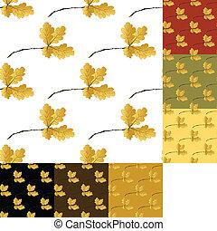 automne, modèle, ensemble, seamless