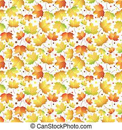 automne, modèle, feuilles, érable