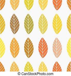 automne, modèle, feuilles, arrière-plan., seamless