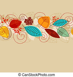 automne, modèle, seamless, fond