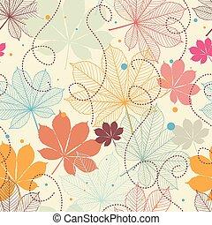 automne, modèle, seamless, leaves.