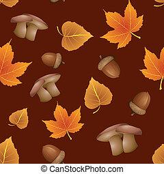 automne, modèle, -, seamless