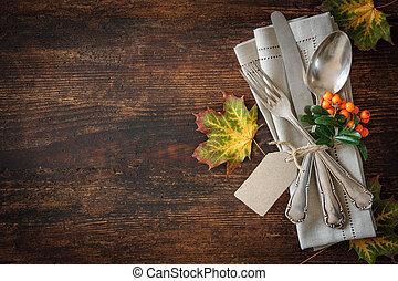 automne, monture, endroit, thanksgiving