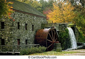 automne, moulin