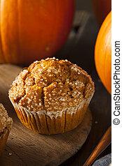 automne, muffin, fait maison, citrouille