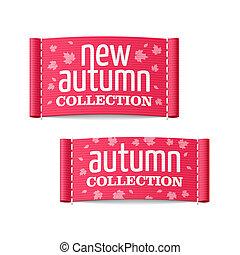 automne, nouveau, étiquettes, collection