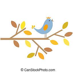 automne, oiseau