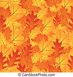 automne, orange part, seamless, fond