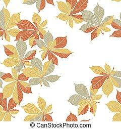 automne, orange part, seamless, modèle
