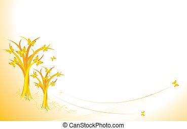 automne, papillons
