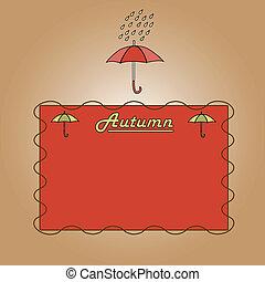 automne, parapluies, fond