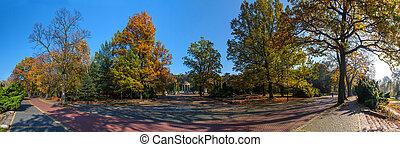 automne, park., scène