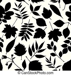 automne, pattern., seamless