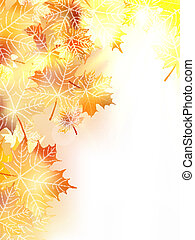 automne, plus, eps10, leaves., fond