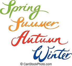 automne, printemps, hiver, été