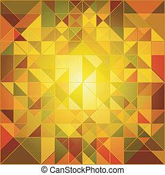 automne, résumé, couleurs, fond, géométrique