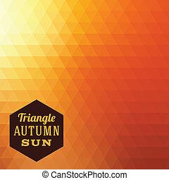 automne, résumé, vecteur, triangle, fond