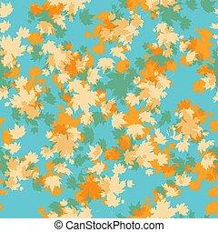 automne, seamless, érable