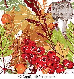 automne, seamless, fond