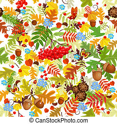 automne, seamless, texture