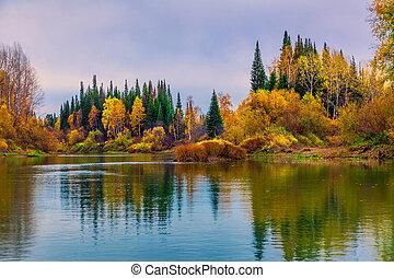 automne, sibérie