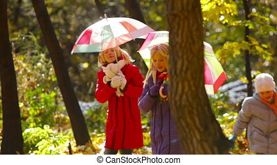 automne, soleil, douche