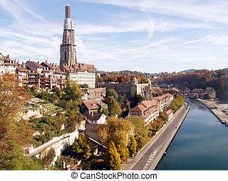 automne, suisse, berne