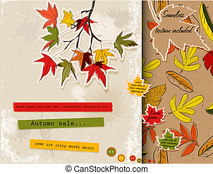 automne, sur, ensemble, scrapbooking