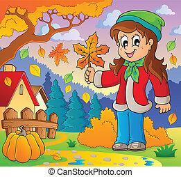 automne, thématique, image, 8