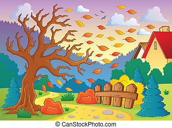 automne, thématique, image, 9