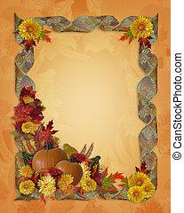 automne, thanksgiving, fond, automne
