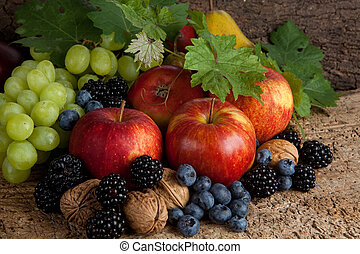 automne, thanksgiving, fruits