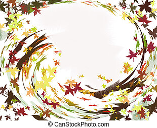 automne, tourbillon