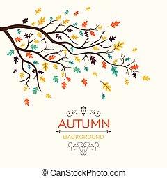 automne, vecteur, conception