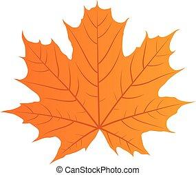 automne, vecteur, feuille
