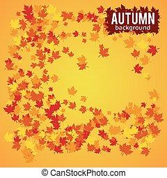 automne, vecteur, fond, illustration