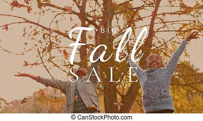 automne, vidéo, vente, 4k, engendré, digitalement