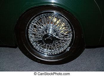 automobil, hjul