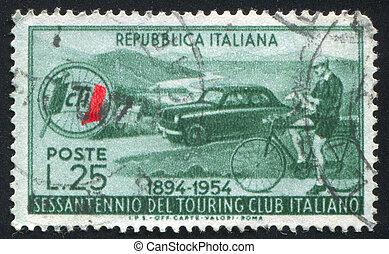 automobil, og, cyklist
