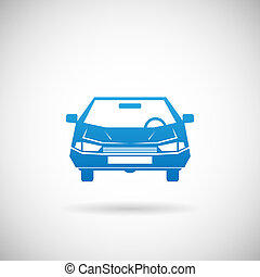 automobil, symbol, automobilen, silhuet, ikon, konstruktion, skabelon, vektor, illustration
