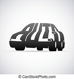 automobil, vektor, logo, konstruktion, skabelon