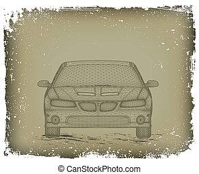 automobile, è, designed., vettore