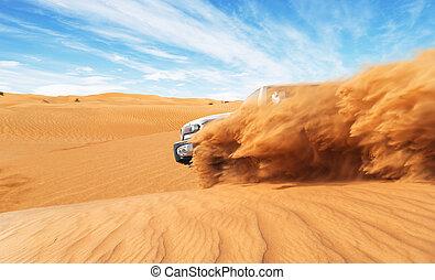 automobile, 4x4, deserto, offroad, andare deriva