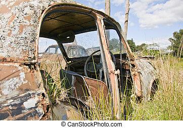 automobile, abbandonato