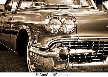automobile, américain, classique, voiture., caddilac