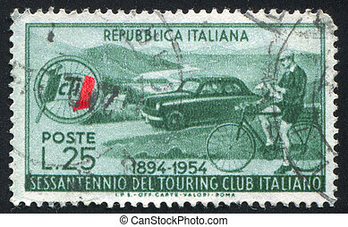 Automobile and Cyclist