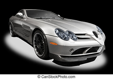 automobile, argento, sport