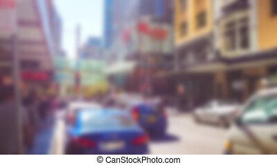 automobile, astratto, strada, offuscamento